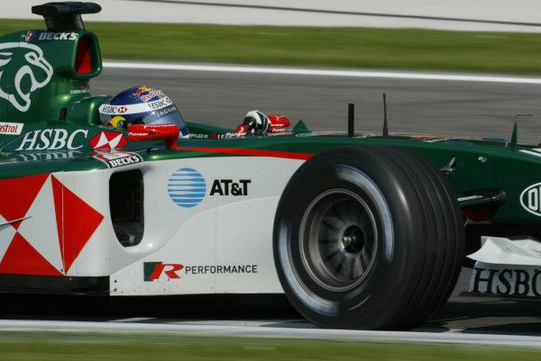 2004 San Marino Grand Prix - Saturday Qualifying,Imola, Italy. 24th April 2004.Christian Klien, Jaguar Racing, action.World Copyright LAT Photographic.ref: Digital Image Only