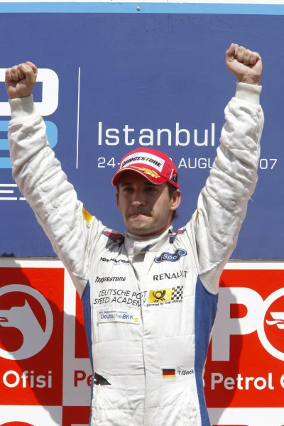 2007 GP2 Series. Round 8.Istanbul Park, Istanbul Turkey. 26th August 2007. Sunday Race.Timo Glock (GER, iSport International) celebrates victory.World Copyright: Glenn Dunbar/GP2 Series Media Service.ref: Digital ImageIMG_5973