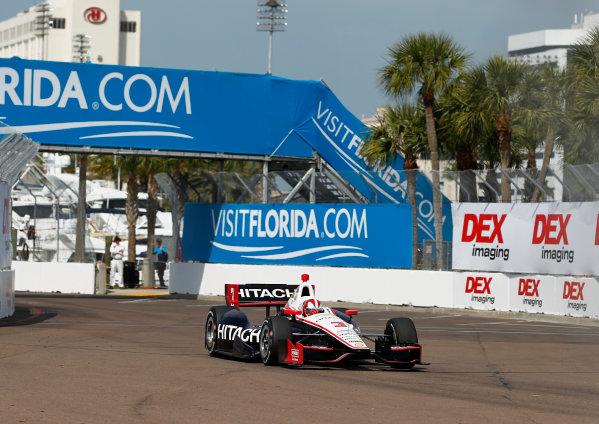 22-24 March, 2013, St Petersburg, Florida, USA Helio Castroneves. ©2013, Phillip Abbott LAT Photo USA