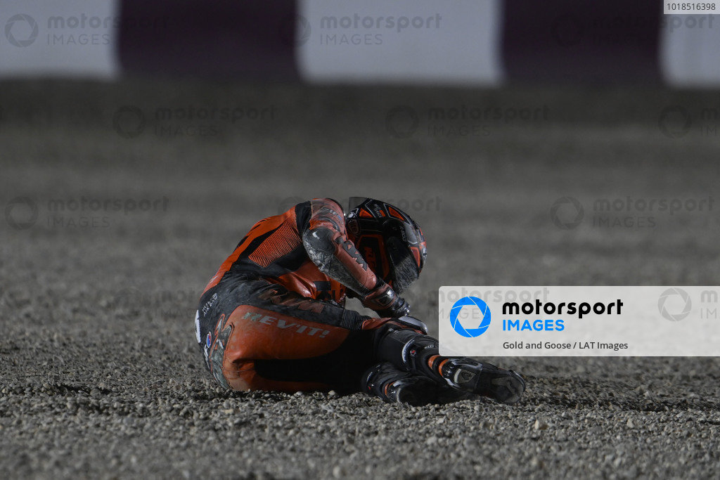 Danilo Petrucci, KTM Tech3 crash.