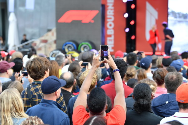 Fans at the Federation Square event