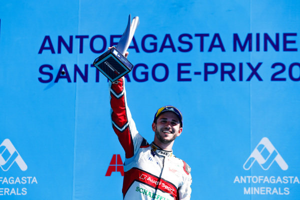 Daniel Abt (DEU), Audi Sport ABT Schaeffler, 3rd position, celebrates on the podium