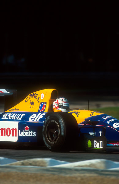 1992 Italian Grand Prix.Monza, Italy.11-13 September 1992.Nigel Mansell (Williams FW14B Renault). He was leading the race comfortably until a hydraulic failure on lap 42.Ref-92 ITA 01.World Copyright - LAT Photographic