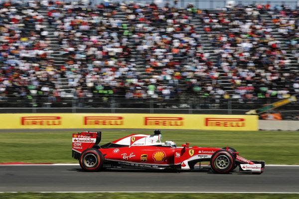 Sebastian Vettel (GER) Ferrari SF16-H at Formula One World Championship, Rd19, Mexican Grand Prix, Qualifying, Circuit Hermanos Rodriguez, Mexico City, Mexico, Saturday 29 October 2016.