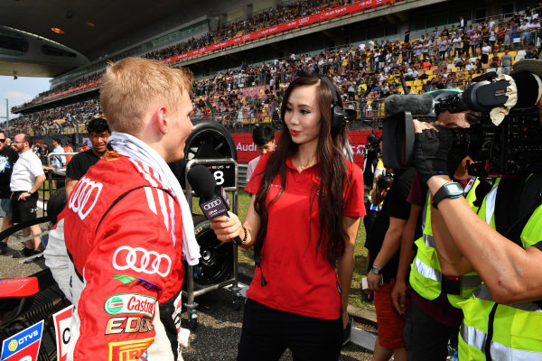 Martin Rump (EST) Champion Racing Team is interviewed on the grid at Audi R8 LMS Cup, Rd7 and Rd8, Shanghai, China, 8-10 September 2017.