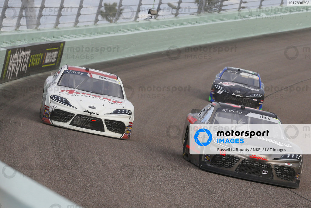 #13: Timmy Hill, Motorsports Business Management, Toyota Camry CrashClaimsR.US and #61: Chad Finchum, Motorsports Business Management, Toyota Supra Amana / SmithBilt Homes