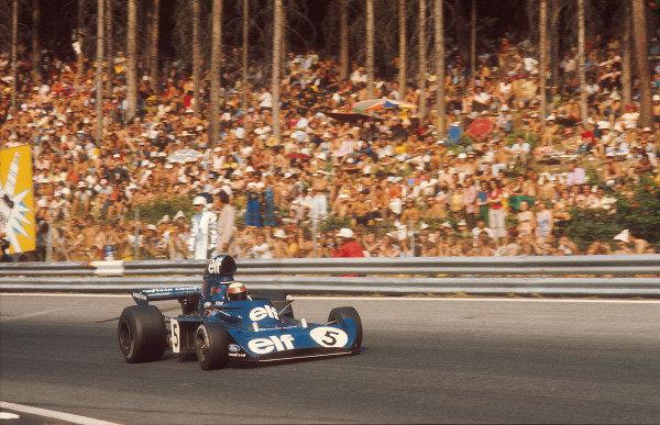 1973 Austrian Grand Prix.Osterreichring, Zeltweg, Austria.17-19 August 1973.Jackie Stewart (Tyrrell 006 Ford) 2nd position.Ref-73 AUT 02.World Copyright - LAT Photographic