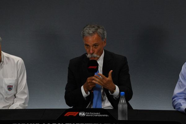 Chase Carey, Chairman, Formula 1 in the Press Conference
