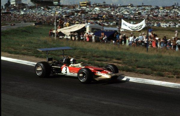 1969 South African Grand Prix.Kyalami, South Africa.27/2-1/3 1969.Mario Andretti (Lotus 49B Ford).Ref-69 SA 89.World Copyright - LAT Photographic