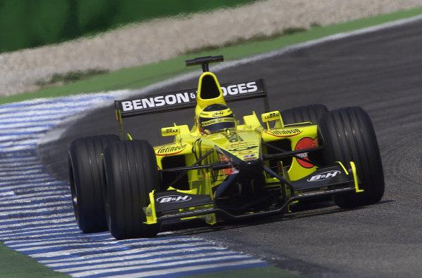 2001 German Grand Prix - PracticeHockenheim, Germany. 27th July 2001.Ricardo Zonta, Jordan Honda EJ11, action.World Copyright: Steve Etherington/LAT Photographic.ref: 16mb Digital Image