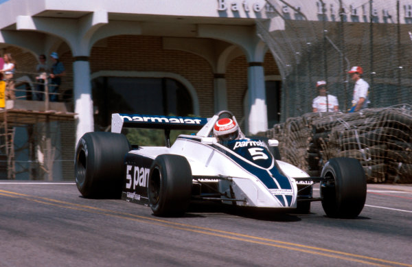 1980 United States Grand Prix West.Long Beach, California, USA.28-30 March 1980.Nelson Piquet (Brabham BT49 Ford) 1st position.Ref-80 LB 05.World Copyright - LAT Photographic
