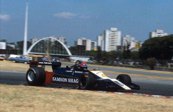 1979 Argentinian Grand Prix.Buenos Aires, Argentina.19-21 January 1979.Jan Lammers (Shadow DN9 Ford) on his Grand Prix debut.Ref-79 ARG 08.World Copyright - LAT Photographic