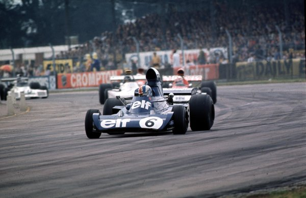 1973 British Grand Prix.  Silverstone, England. 12-14 July 1973.  Francois Cevert (Tyrrell 006 Ford Cosworth) 5th position.  Ref: 73GB57. World - LAT Photographic
