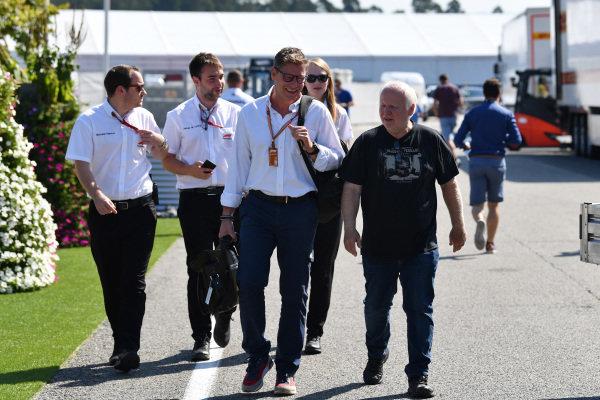 Bernd Maylander (GER) FIA Safety Car Driver and Norbert Vettel (GER)
