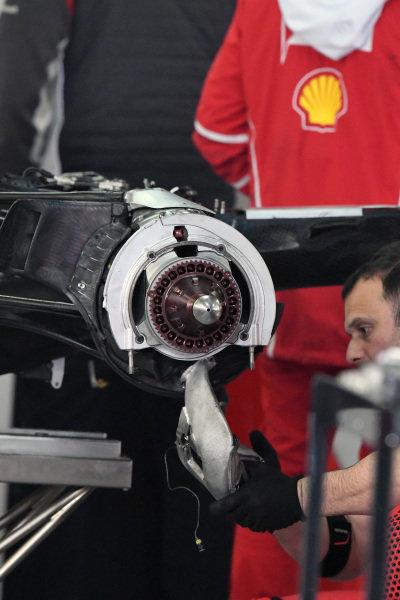 Ferrari SF70-H rear wheel hub detail at Formula One World Championship, Rd2, Chinese Grand Prix, Practice, Shanghai, China, Friday 7 April 2017.