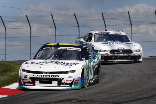 #10: A J Allmendinger, Kaulig Racing, Chevrolet Camaro LeafFilter Gutter Protection and #98: Chase Briscoe, Stewart-Haas Racing, Ford Mustang Ford Performance