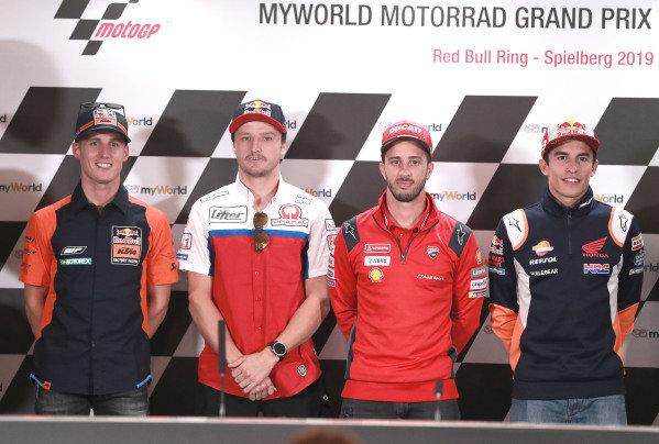 Pol Espargaro, Red Bull KTM Factory Racing, Jack Miller, Pramac Racing, Andrea Dovizioso, Ducati Team, Marc Marquez, Repsol Honda Team