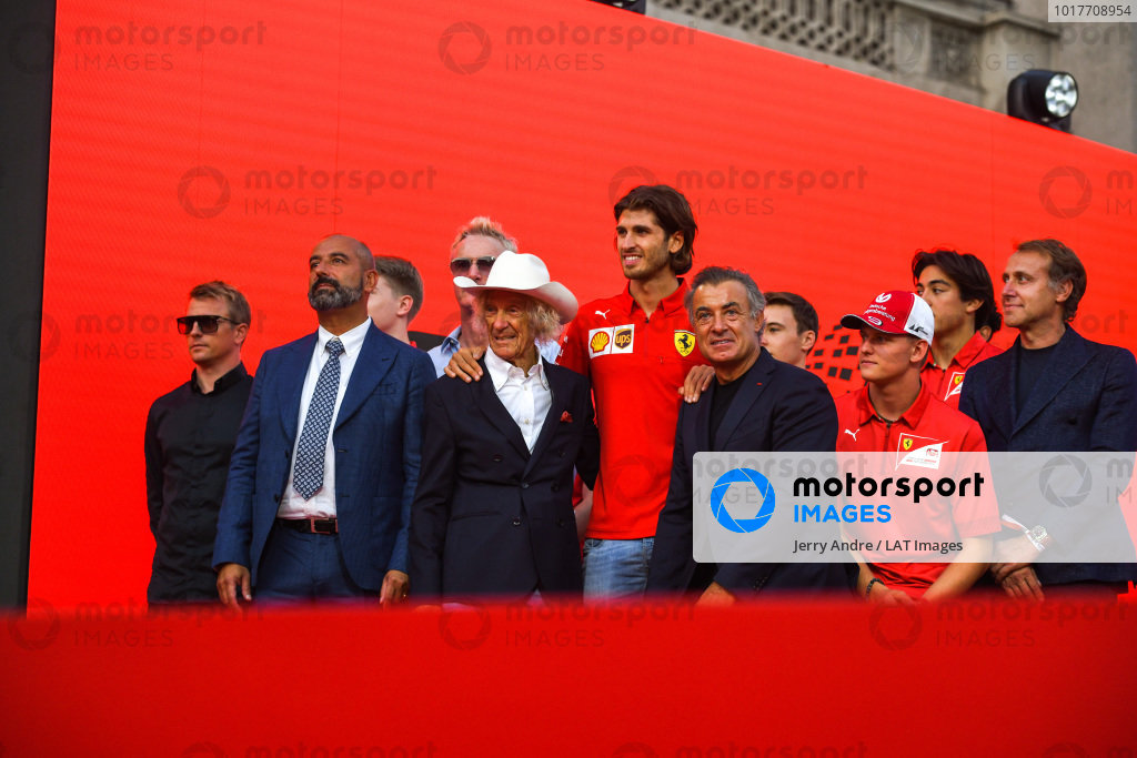 Kimi Räikkönen, Alfa Romeo, Ivan Capelli, Arturo Merzario, Antonio Giovinazzi, Alfa Romeo, Jean Alesi, Mick Schumacher, and Luca Badoer