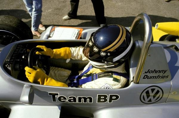 Johnny Dumfries (GBR) Ralt RT3/84 Volkswagen won the race and the championship. British Formula 3 Championship, Thruxton, England, 30 September 1984. BEST IMAGE.