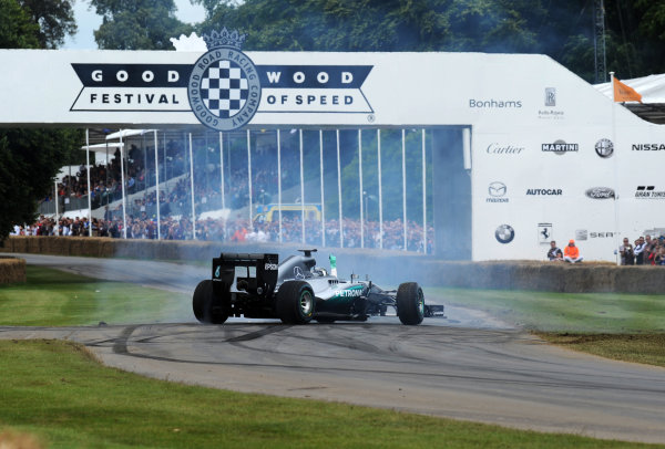 2016 Goodwood Festival of Speed Goodwood Estate, West Sussex,England 23rd - 26th June 2016 Nico Rosberg Mercedes World Copyright : Jeff Bloxham/LAT Photographic Ref : Digital Image