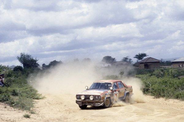 1981 World Rally Championship.Safari Rally, Kenya. 16-20 April 1981.Shekhar Mehta/Mike Doughty (Satsun Violet GT), 1st position.World Copyright: LAT PhotographicRef: 35mm transparency 81RALLY03