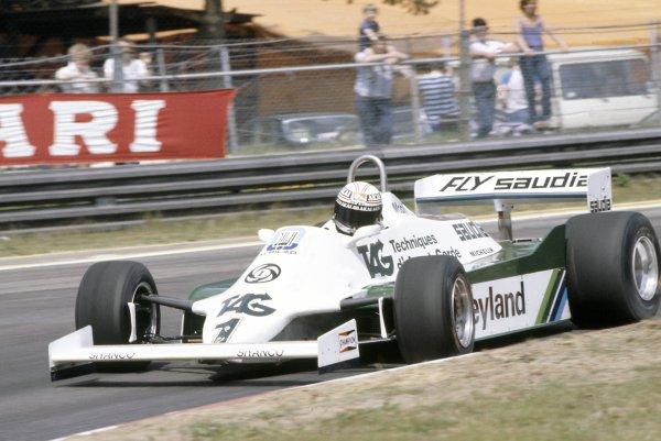 1981 Belgian Grand PrixZolder, Belgium. 15-17 May 1981.Alan Jones (Williams FW07C-Ford Cosworth), retired. Ref - 81BEL28.World Copyright - LAT Photographic