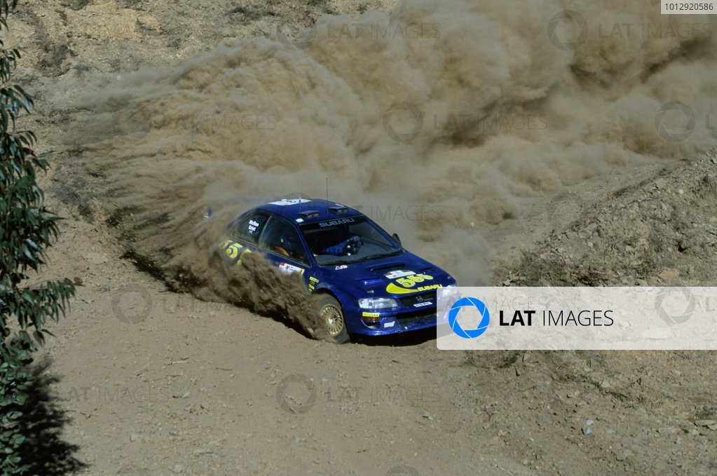 1998 World Rally Championship.Portuguese Rally, Portugal. 22-26 March 1998.Colin McRae/Nicky Grist (Subaru Impreza WRC), 1st position.World Copyright: LAT PhotographicRef: 35mm transparency 98RALLY03