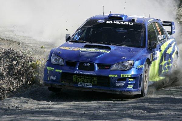 2006 FIA World Rally Champs. Round Three; Rally Mexico.; 2nd - 4th March 2006.Chris Atkinson; Subaru; action.World Copyright: LAT/McKleinref: WRCMEX06-1 JPG