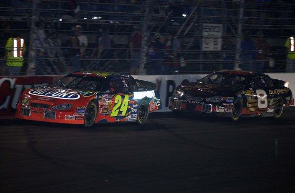 2003 NASCAR, Chevy Rock & Roll 400, Richmond Va. USAJeff Gordon leading Dale Earnhardt Jr.World Copyright -RobertLeSieur ,2003LAT Photographic-ref: digital image