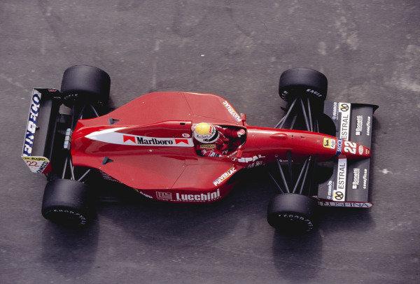 1992 Spanish Grand Prix.Catalunya, Barcelona, Spain. 1-3 May 1992.Pierluigi Martini (Scuderia Italia/Dallara 192 Ferrari) 6th position.Ref-92 ESP 27.World Copyright - LAT Photographic