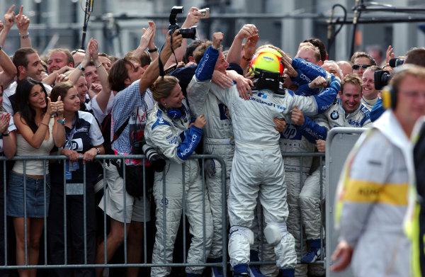 2003 European Grand Prix - RaceNurburgring, Germany. 29th June 2003Ralf Schumacher, BMW WilliamsWorld Copyright - Thierry Gromik / LAT Photographicref: digital file only