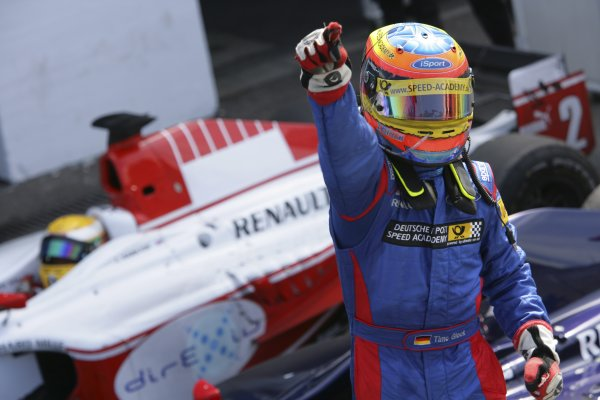2006 GP2 Series Round 8. Hockenheim, Germany. 30th July 2006. Sunday race. Timo Glock (GER, iSport International) race winner.World Copyright: Lorenzo Bellanca/GP2 Series Media Service. Ref: Digital Image Only.ZD2J1424 jpg