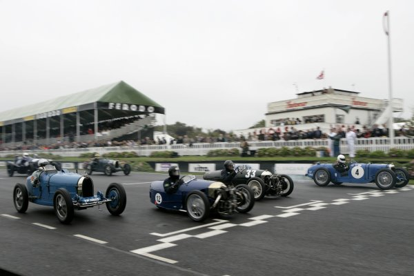 2006 Goodwood Revival Meeting. Goodwood, West Sussex. 2nd - 3rd September 2006 Brooklands Trophy.Racers are go.World Copyright: Gary Hawkins/LAT Photographic ref: Digital Image Only