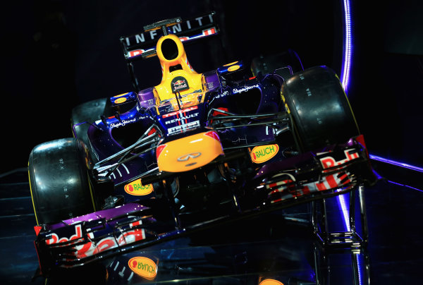 Milton Keynes, UK   The new Infiniti Red Bull Racing RB9 Photo: Richard Heathcote/Getty Images/Red Bull Racing () ref: Digital Image 160597188_10