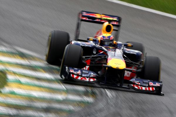Interlagos, Sao Paulo, Brazil26th November 2011Mark Webber, Red Bull Racing RB7 Renault. Action. World Copyright: Andy Hone/LAT Photographicref: Digital Image CSP28898