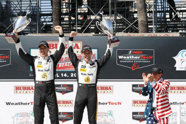 #5 Action Express Racing Cadillac DPi, P: Joao Barbosa, Filipe Albuquerque, podium