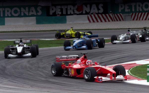 Sepang, Kuala Lumpur, Malaysia.20-22 October 2000.Rubens Barrichello (Ferrari F1-2000) 3rd position. World Copyright LAT Photographicref: digital image