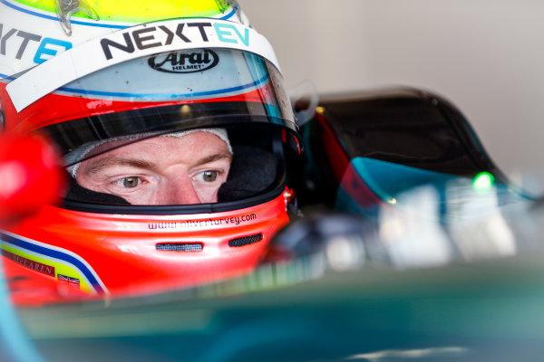 FIA Formula E Season 3 Testing - Day Two. Donington Park Racecourse, Derby, United Kingdom. Oliver Turvey, NEXTEV NIO, in cockpit. Wednesday 24 August 2016. Photo: Adam Warner / LAT / FE. ref: Digital Image _L5R0611