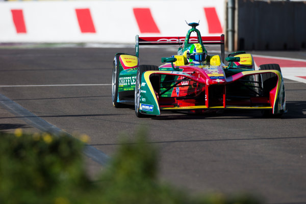 2016/2017 FIA Formula E Championship. Marrakesh ePrix, Circuit International Automobile Moulay El Hassan, Marrakesh, Morocco. Lucas Di Grassi (BRA), ABT Schaeffler Audi Sport, Spark-Abt Sportsline, ABT Schaeffler FE02.  Friday 11 November 2016. Photo: Sam Bloxham/LAT/Formula E ref: Digital Image _SLA6802