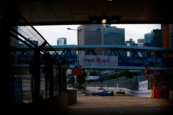 Suzuka Circuit, Japan. Sunday 09 October 2016. Sebastien Buemi (9, Renault e.dams) leads Lucas di Grassi (11, ABT Schaeffler Audi Sport) World Copyright: Zak Mauger/LAT Photographic ref: Digital Image _X0W1813