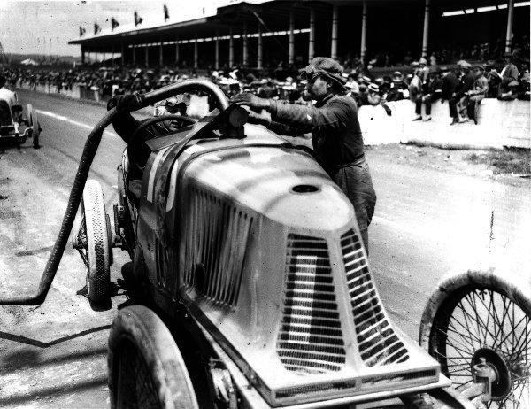 Lyons, France.4 July 1914.Piero Pietro (Alda).Ref: Autocar Glass Plate 1236. World Copyright - LAT Photographic