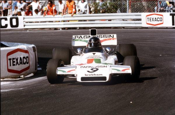 Monte Carlo, Monaco.31/5-3/6 1973.Andrea de Adamich (Brabham BT37 Ford) 7th position.Ref-35mm 73 MON 18.World Copyright - LAT Photographic