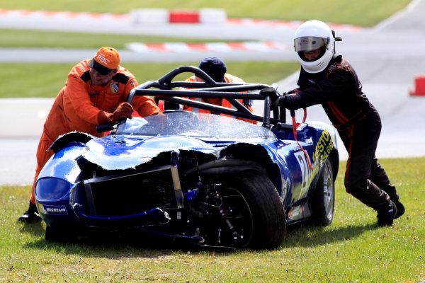 2014 Protyre Motorsport Ginetta GT5 Challenge, Oulton Park, Cheshire. 19th April 2014. Stuart Pearson (GBR) Ginetta G20. World Copyright: Ebrey / LAT Photographic.