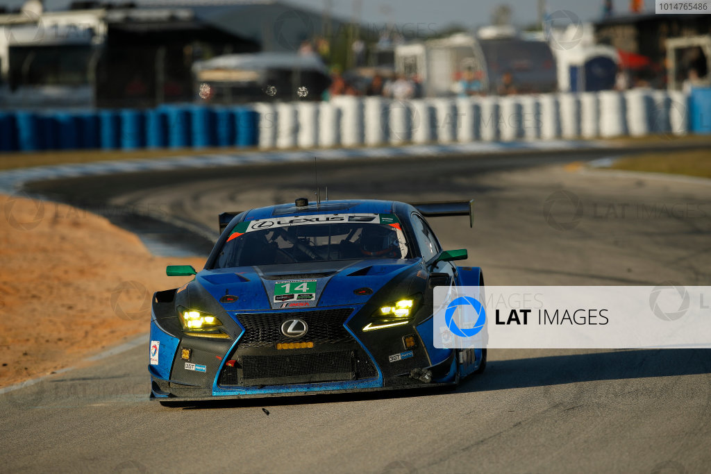 2017 IMSA WeatherTech SportsCar Championship Mobil 1 Twelve Hours of Sebring Sebring International Raceway, Sebring, FL USA Saturday 18 March 2017 14, Lexus, Lexus RCF GT3, GTD, Scott Pruett, Ian James, Sage Karam World Copyright: Michael L. Levitt/LAT Images ref: Digital Image levitt_seb_0317-26222
