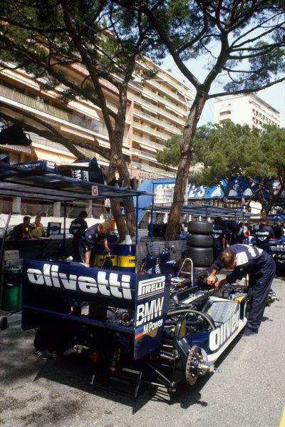 Monte Carlo, Monaco. 8-11 May 1986. Elio de Angelis (Brabham BT55 BMW), retired, action. World Copyright: LAT Photographic.Ref:  86MON