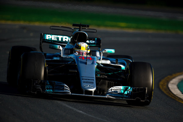 Lewis Hamilton (GBR) Mercedes-Benz F1 W08 Hybrid at Formula One World Championship, Rd1, Australian Grand Prix, Race, Albert Park, Melbourne, Australia, Sunday 26 March 2017.