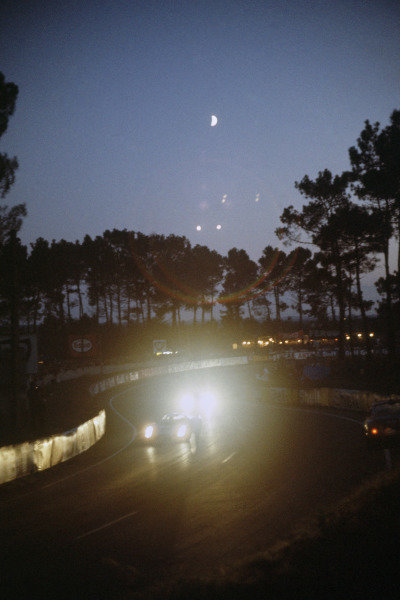 Le Mans, France. 28 - 29 September 1968. The Esses at night, action. World Copyright: LAT Photographic Ref: 68LM31