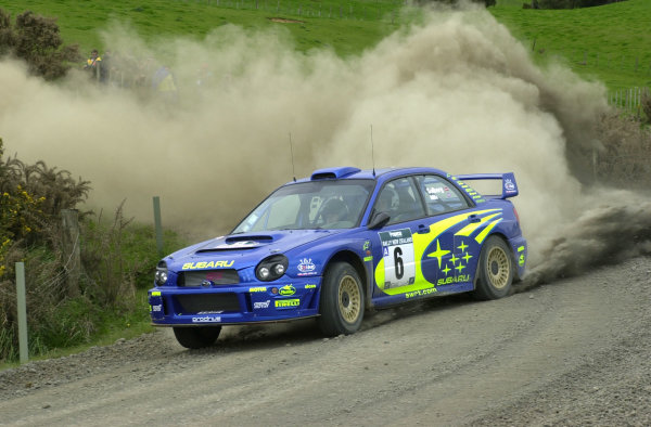 2001 World Rally Championship.Rally of New Zealand. September 20-23, 2001.Auckland, New Zealand.Petter Solberg on stage 4.Photo: Ralph Hardwick/LAT
