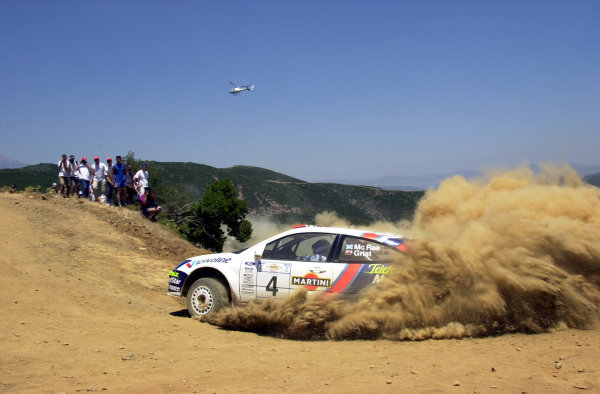 2001 World Rally Championship.Acropolis Rally June 14-17, 2001.Colin McRae on stage 9 .Photo: Ralph Hardwick/LAT