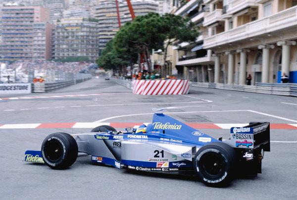 1999 Monaco Grand Prix.Monte Carlo, Monaco. 13-16 April 1999.Marc Gene (Minardi M01 Ford).Ref-99 MON 98.World Copyright - Gavin Lawrence/LAT Photographic